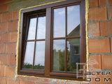 okno dębowe ze szprosem wiedeńskim