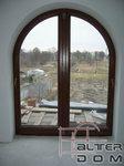 okno tarasowe z półkolem